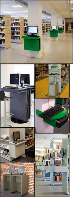 OPAC Library Computer Stations