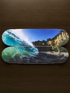 """Decoração - Quadro de Skate """"Praia do Sancho - Fernando de Noronha"""" - @lojaonboard"""