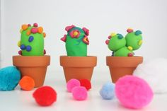 DIY: des cactus en pâte Fimo
