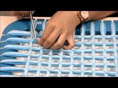 How to make a pom pom blanket - Criss cross blanket - Double sided reversable : Criss Cross - YouTube