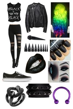 """Out with LJ"" by amazinglyawsome ❤ liked on Polyvore featuring Sally&Circle, Vans, Sacai Luck, NIKE, Michael Kors and Valentino"