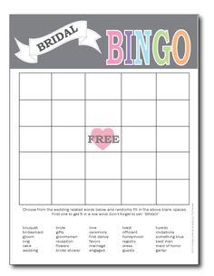 printable bridal shower bingo card