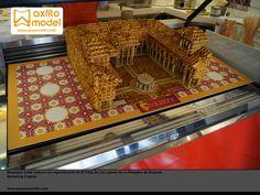 maqueta patio de los leones reproducción alhambra de granada grupo axfito marketing original taller de maquetas en granada taller de maquetas en malaga
