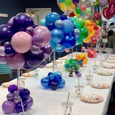 Balloon decor gallery ON Mini Balloons, Rainbow Balloons, Custom Balloons, Birthday Balloons, 1st Birthday Parties, Balloon Topiary, Balloon Flowers, Balloon Bouquet, Balloon Columns