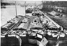Hospital barges, 1915, river seine