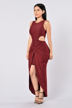 On The Sly Dress - Burgundy