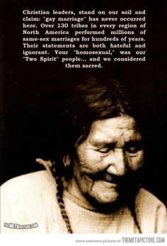 What Native Americans think about gay marriage…