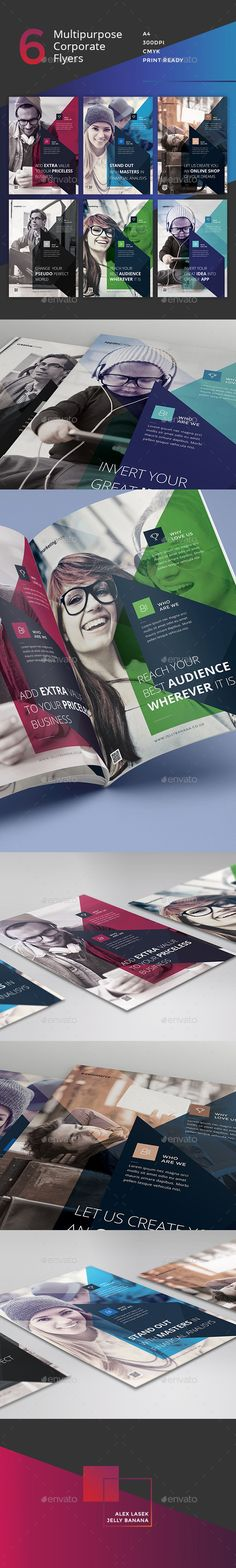 Corporate Style Flyer - 6 Multipurpose Business Templates PSD #promote Download: http://graphicriver.net/item/corporate-flyer-6-multipurpose-business-templates-vol-9/13238778?ref=ksioks