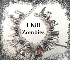 ZOMBIE Jewelry Zombie HUNTER Charm Bracelet by princessofscraps, $25.99