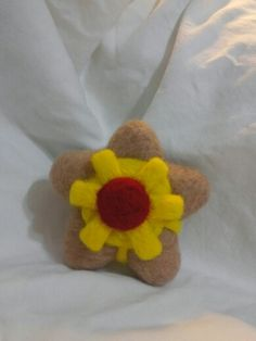 Staryu pokemon plush made with needle felted wool.