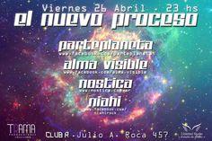Flyer El Nuevo Proceso, Club R. 2013.