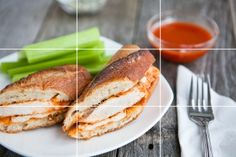 Food photography composition