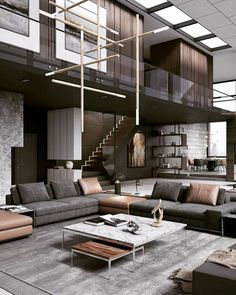 Swipe left and enjoy this warm and stylish interior design! 😍💛 Tag an Architecture Lover! d_signers ____ Design and Visualized by… 344595808988510306 Living Room Sets, Rugs In Living Room, Living Room Designs, Masculine Living Rooms, Curtains Living, Dream Home Design, Modern House Design, Contemporary Interior Design, Home Interior Design