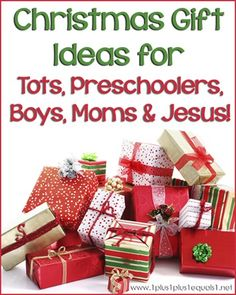 Christmas Gift Ideas from @{1plus1plus1} Carisa {links to individual posts for tots, preschoolers, boys, moms, Jesus} Great gift ideas at http://KindleLaptopsetc.com