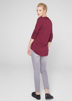 Buy Blouse top in a mullet style | s.Oliver shop