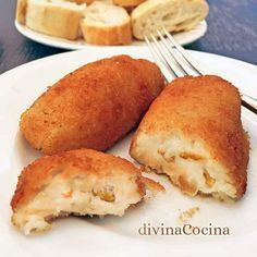 You searched for Croquetas - Divina Cocina Veggie Recipes, Pasta Recipes, Mexican Food Recipes, Sweet Recipes, Brunch, Tasty, Yummy Food, Good Food, Kitchen Recipes