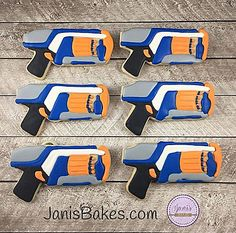 janisbakes | Nerf Guns Decorated Cookies