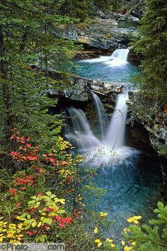 canadian waterfalls | Banff National Park, Alberta, CANADA. This is part of the big Canadian ...