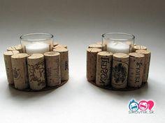Pre všetkých milovníkov vína! 120 perfektných nápadov, ako použiť korkové zátky - sikovnik.sk Wine Cork Crafts, Tea Lights, Candle Holders, Place Card Holders, Candles, Candlesticks, Candelabra, Candle, Lights