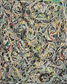 Jackson Pollock, Eyes in the Heat, 1946. Oil and enamel on canvas, 54 x 43 inches (137.2 x 109.2 cm)