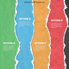 Option B, Torn Paper, Texture Vector, Vector Photo, Free Vector Graphics, Paper Design, Textures Patterns, Infographic, Building Materials