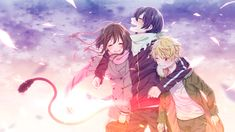 These tree just belong together~ | Hiyori Iki,Yato and Yukine having fun together | Noragami☆°
