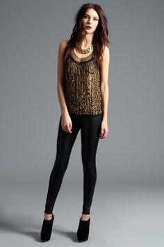 Boutique Millie Georgette Drop Sequin Front Sleevless Top at boohoo.com #boohooboutique