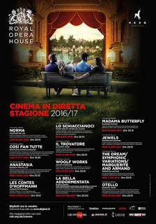 Claudia Grohovaz: ROYAL OPERA HOUSE AL CINEMA - IN DIRETTA VIA SATEL...