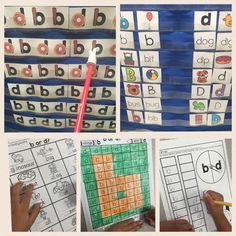 b and d reversal practice. Includes sorts, games and worksheets with various levels of support to help students discriminate b and d's.