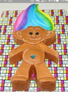 My daughter wants a troll cake. This looks both fun and easy!