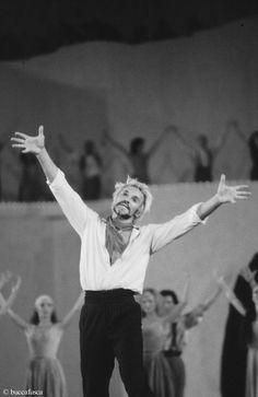 1990 Vladimir Vassiliev in Zorba Arena di Verona b&n