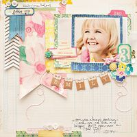 Scrapbooking layout inspiration created using our Maggie Holmes Collection #cratepaper #maggieholmes