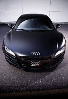 Audi R8- Don't like the matte black so much, but still an awesome car.