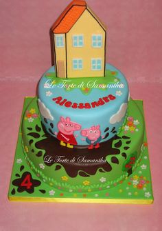 Peppa Pig Cake Cake by LeTortediSamantha