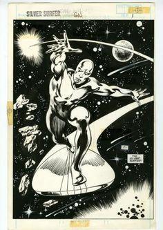 Silver Surfer Judgment Day PG 1 Original Comic Art John Buscema