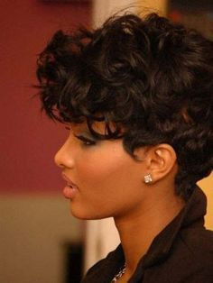 short haircuts for really curly hair - Google Search