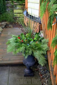 How to Make a Holiday Planter