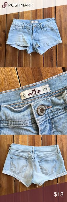 Hollister Shorts Light Wash // Size 00 // Good Condition Hollister Shorts Jean Shorts