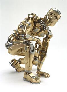 Robot Sculptures - Artists in Metal—Mark Ho Human Sculpture, Sculpture Art, Cyberpunk, Science Fiction, Arte Robot, Vox Machina, Robot Design, Stop Motion, Metal Art