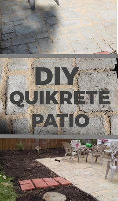 DIY Quikrete Patio