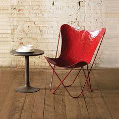 Iron Sling Chair in Red | dotandbo.com