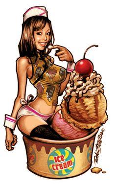 Rockin' Jelly Bean – design i sexploitation [galeria NSFW] Jelly Beans, Jorge Guzman, Poses, Street Art, Graffiti, Sexy Cartoons, Japanese Artists, Pin Up Art, Fantasy Girl