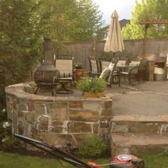 Loving this raised patio... :)