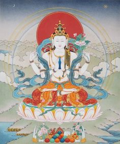 Chenrezig | Thangka Painting in Spain