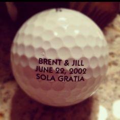 Found this ball on the golf coarse..what a cute wedding favor idea!