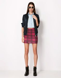 Bershka Macedonia - Bershka checked skirt