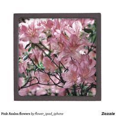 Pink Azalea flowers Premium Jewelry Boxes