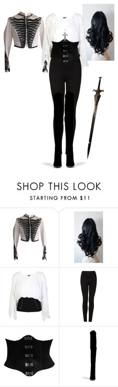 """Anna Valerious (Van Helsing) costume"" by jonikefiona ❤ liked on Polyvore featuring Alexander McQueen, Topshop, CO and Balmain"