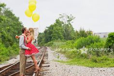 #railroadtracks #engagementshoot #vintage #swag #engaged