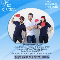 Lady A Sets Inaugural Event PING PONG & SONGS Benefiting LadyAID for March 23rd in Nashville!